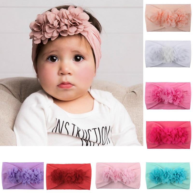 Kind-Blumen-Stirnband Bogen-Knoten Haarband  Mädchen Jungen