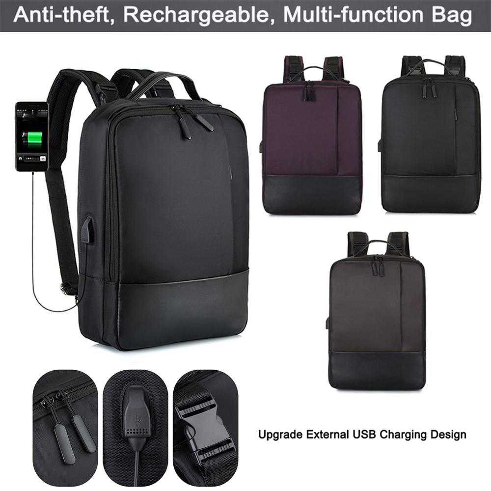 Unisex USB Laptop Tasche Rucksack Diebstahlsicherung Schultasche Damen Daypack