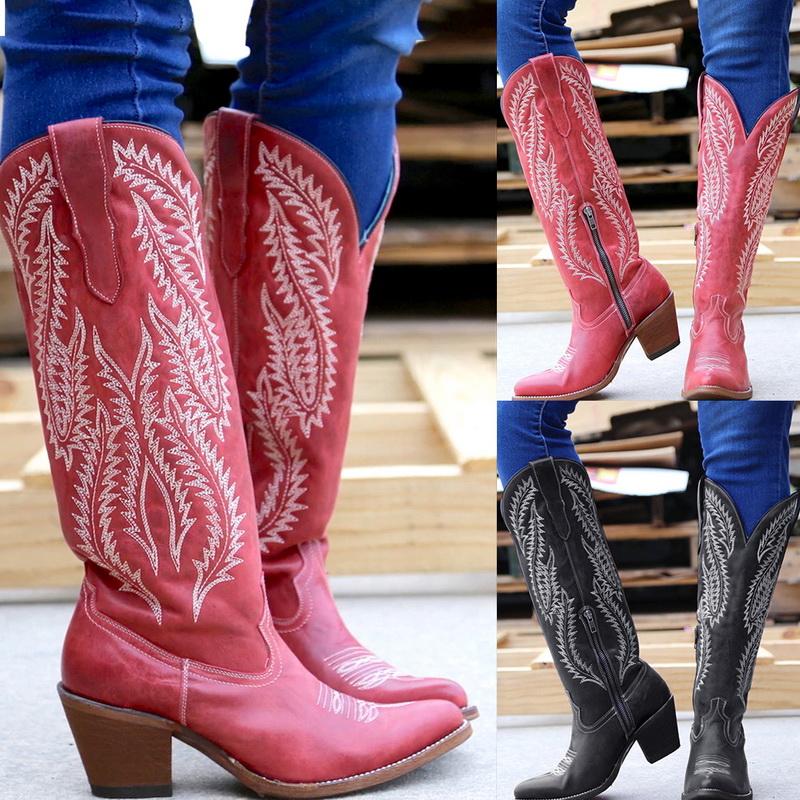 Kniehohe Stiefel Frauen Kleidung klassische Schuhe zu