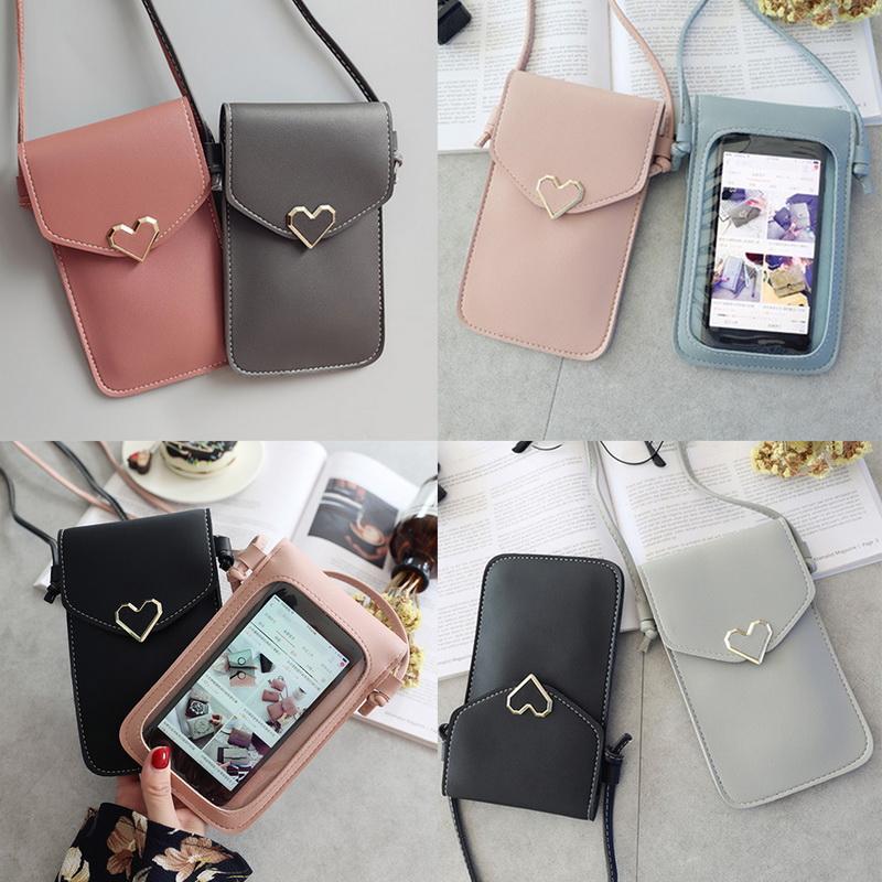 Frauen Touchscreen Handy Tasche Geldbörse Smartphone