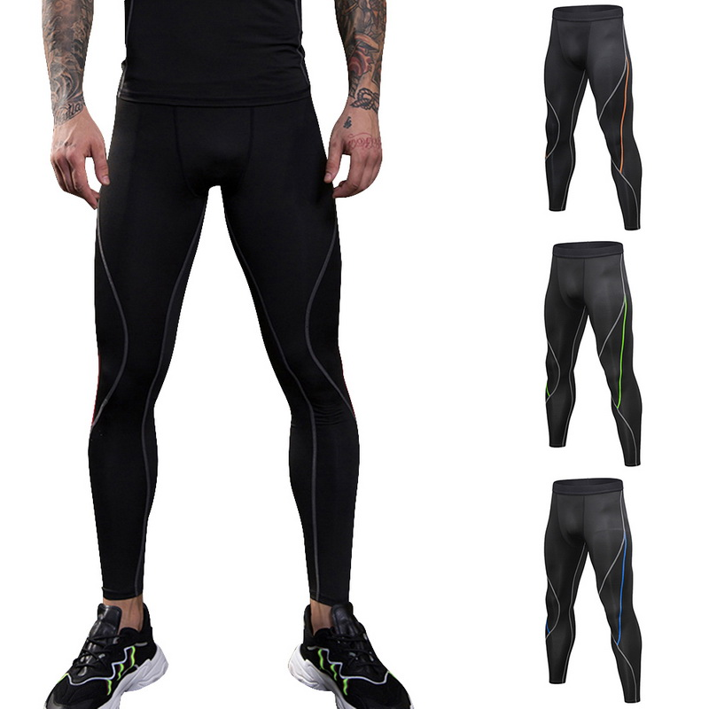 Men Sport Compression Base Layer Pants Quick Dry Sports Leggings Workout Running