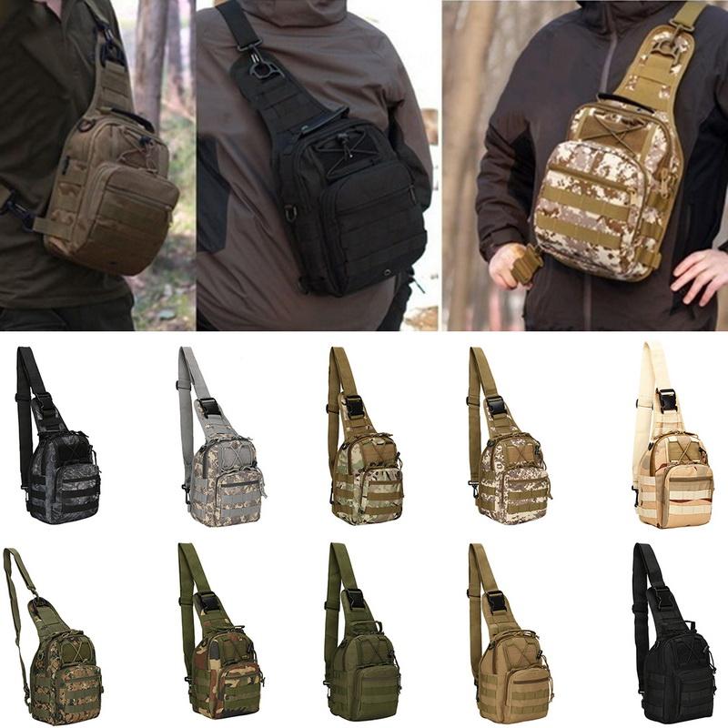 Tactical Chest Bag Backpack Men/'s Molle Crossbody Sling Messenger Shoulder Pack