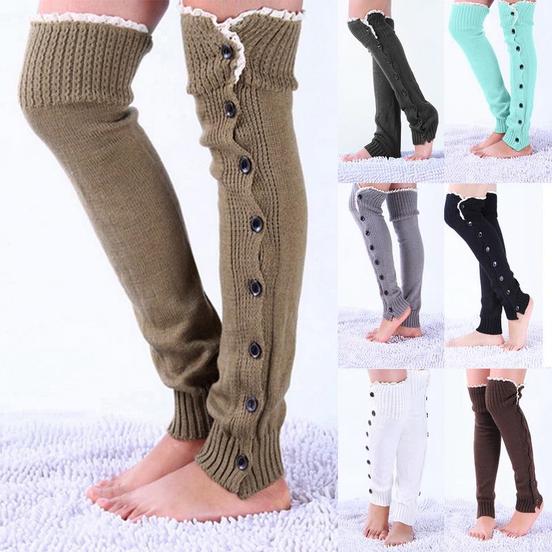 7e19da86b Details about Women Winter Cable Knit Leg Warmer Over Knee Long Boot  Thigh-High Socks Leggings