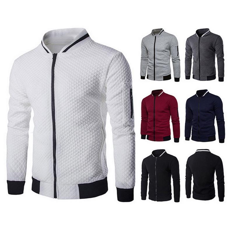 Fashion Men Long Sleeve Solid Hoodie Warm Hooded Coat Jacket Outwear Sport Tops