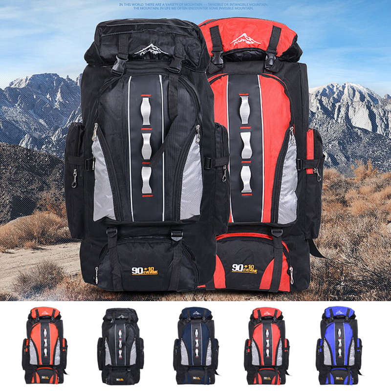100L Large Travel Backpack Mountain Bag Outdoor Sports Hiking Camping Climbing