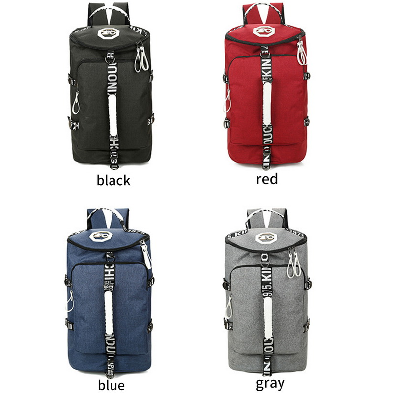 49e1534b03 Details about Stylish Unisex Backpack Travel Bag Waterproof Canvas Luggage  Duffle Barrel Bag
