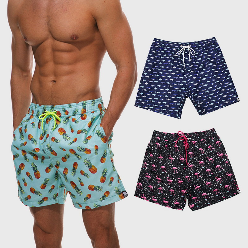 dcf6f93079 Details about Quick Dry Summer Mens Siwmwear Beach Board Shorts Briefs For Men  Swim Trunks Hot