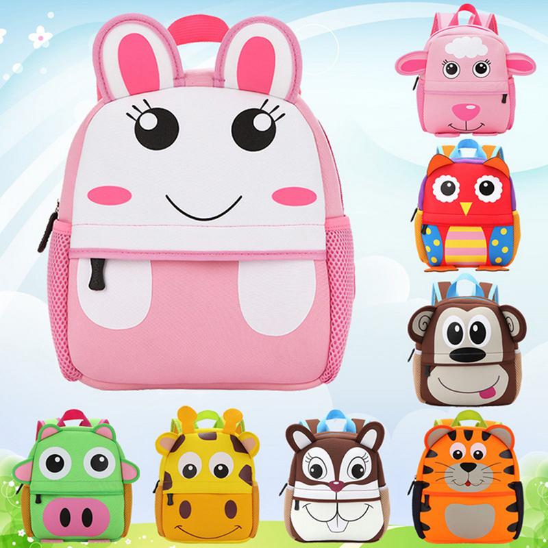 Details about Toddler Kid Children Boy Girl 3D Cartoon Animal Backpack  School Bag Rucksack New fcd5203497e31