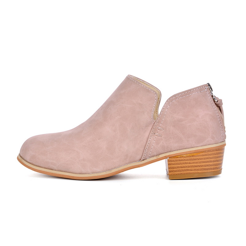 Damen Leder Ankle Boots Blockabsatz Chelsea Stiefel Stiefeletten Schuhe Shoes HJ