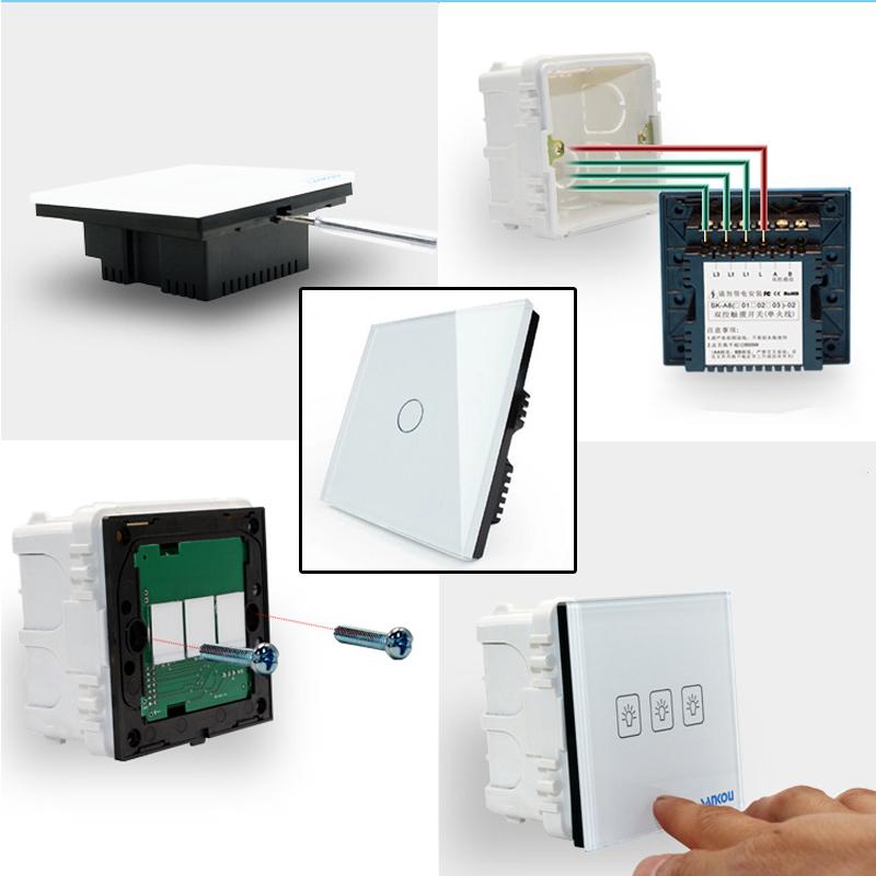 wandschalter led lichtschalter touchscreen smart home touchschalter schalter eu ebay. Black Bedroom Furniture Sets. Home Design Ideas