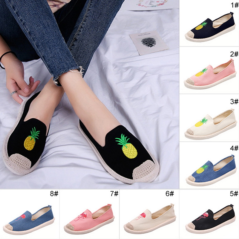 Details about Women s Canvas Casual Beach Lazy flat fisherman shoes lazy  shoes Lofer 39740d75bf