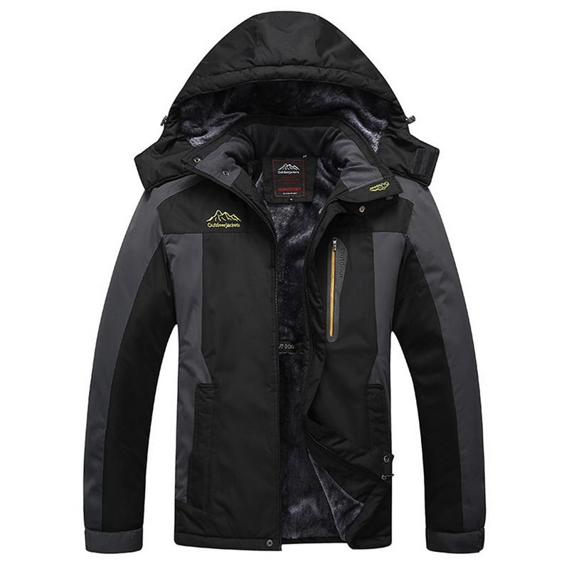 Winter Warm Men S Thick Velvet Coat Thermal Windproof Hood