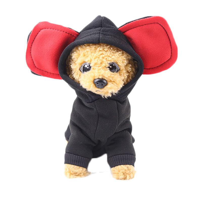Pet Dog Winter Hooded Coat Jacket Big Ear Cartoon Costume
