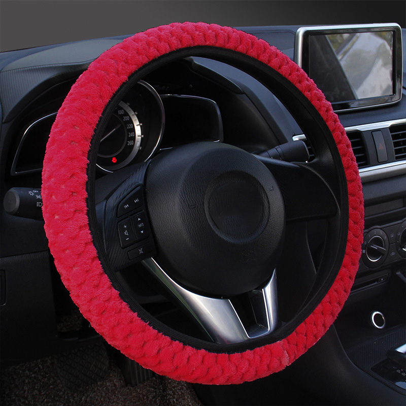 "Car Truck 15/"" Steering Wheel Cover PU Auto Car Universal Fit M HYUNDAI Toyota US"