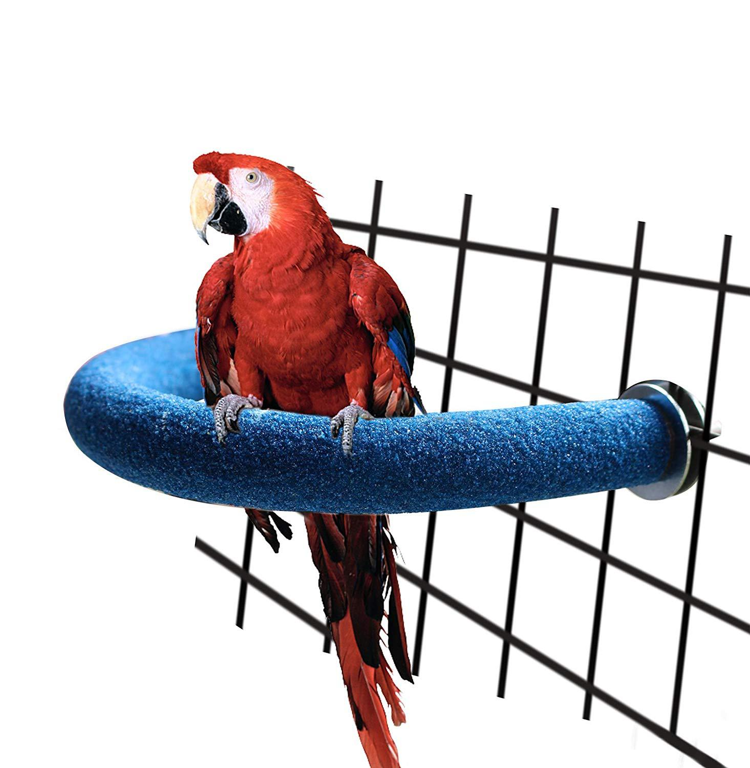 Large bird toys chew parrot grinding colored emery stand cage cockatiel-paraODUS