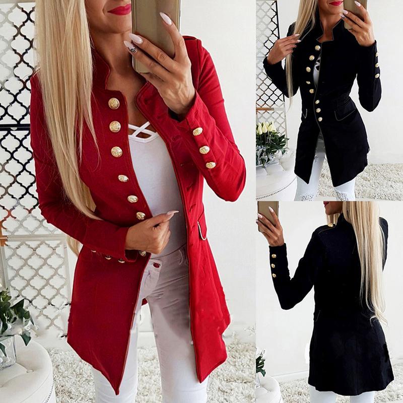 Blazers Box Office: Women OL Long Sleeve Slim Fit Casual Blazer Suit Jacket