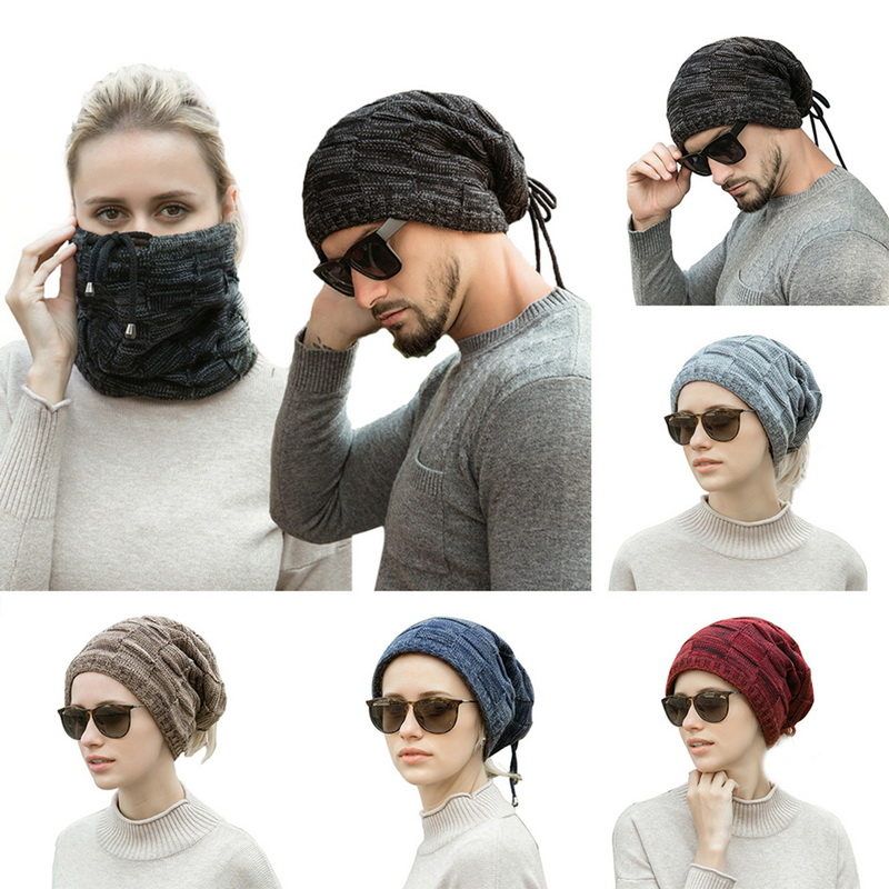 3548542d16a1 Details about Unisex Knitted Horsetail Hats Cable Knit Slouchy Trendy Soft  Warm Cap