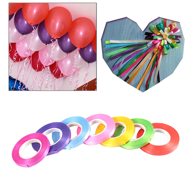 1 Roll 10m 33ft Curling Ribbon Balloon String Party Supplies Crimped Gifts Box