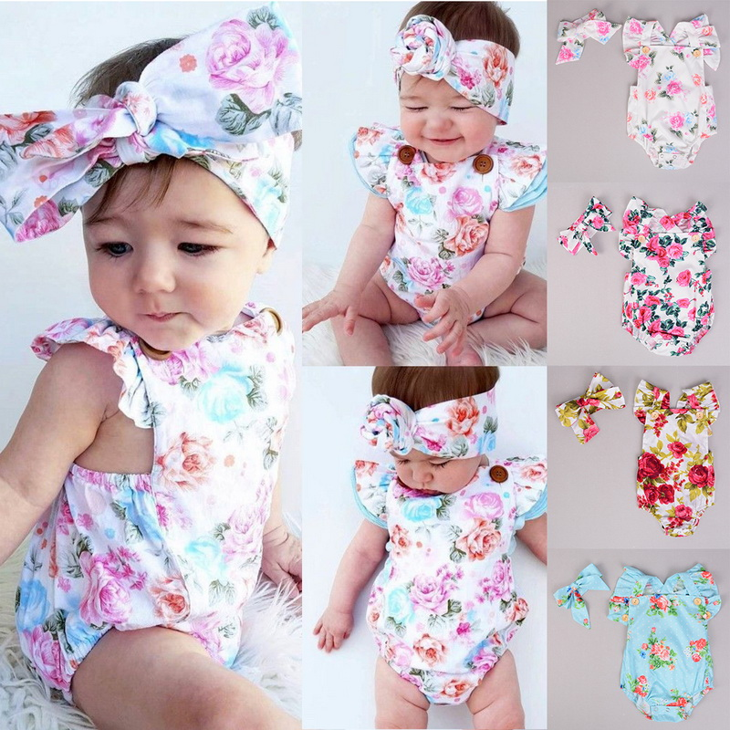 Newborn Child Kid Toddler Infant Baby Girl Crawl Suit Jumpsuit Romper Outfit Set