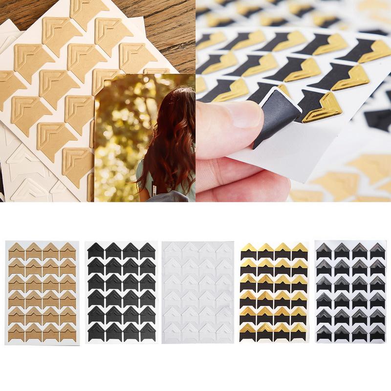 408 pcs Self-adhesive Photo Corner Stickers scrapbook album essential ha