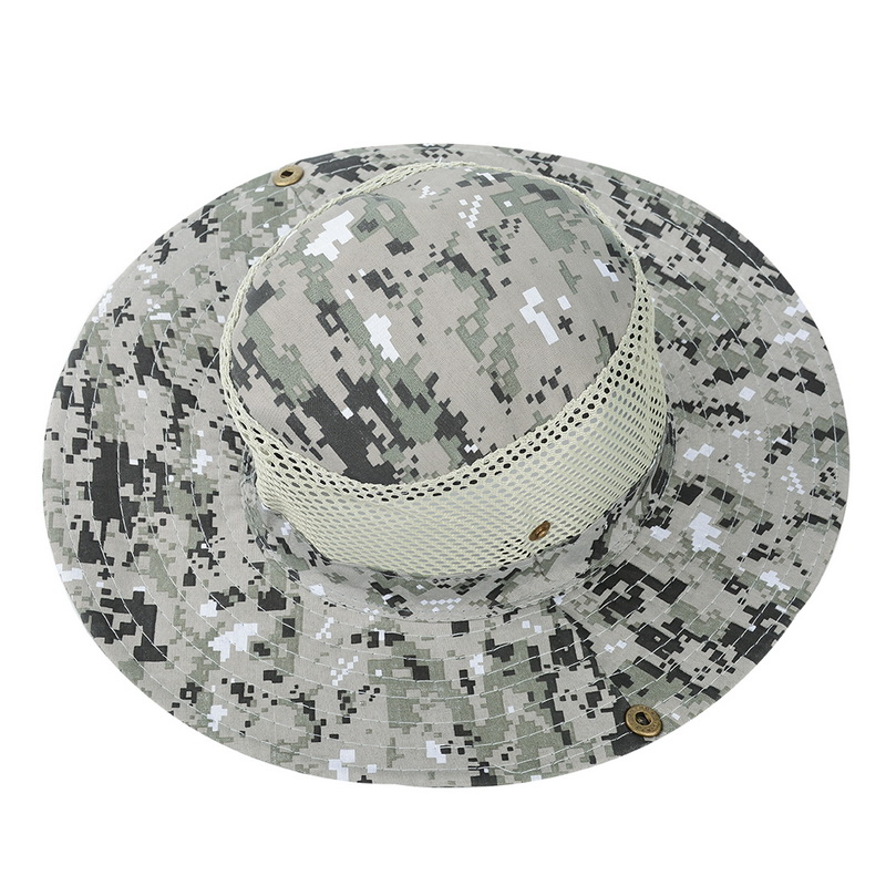 Bucket Hat Boonie Hunting Outdoor Wide Brim Camo Mens Fishing Sun Cap Hat b696f9fd8ca2