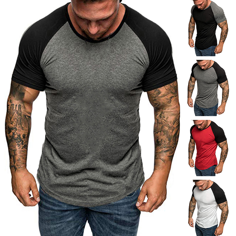 Men Crew Neck Skinny Camo Muscle Summer T-Shirt Short Sleeve Sport Slim Tops Tee