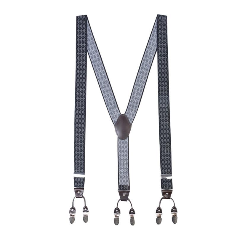 Hommes Bretelles 25mm Large Réglable Élastique Pantalon Pince sur en Forme de Y