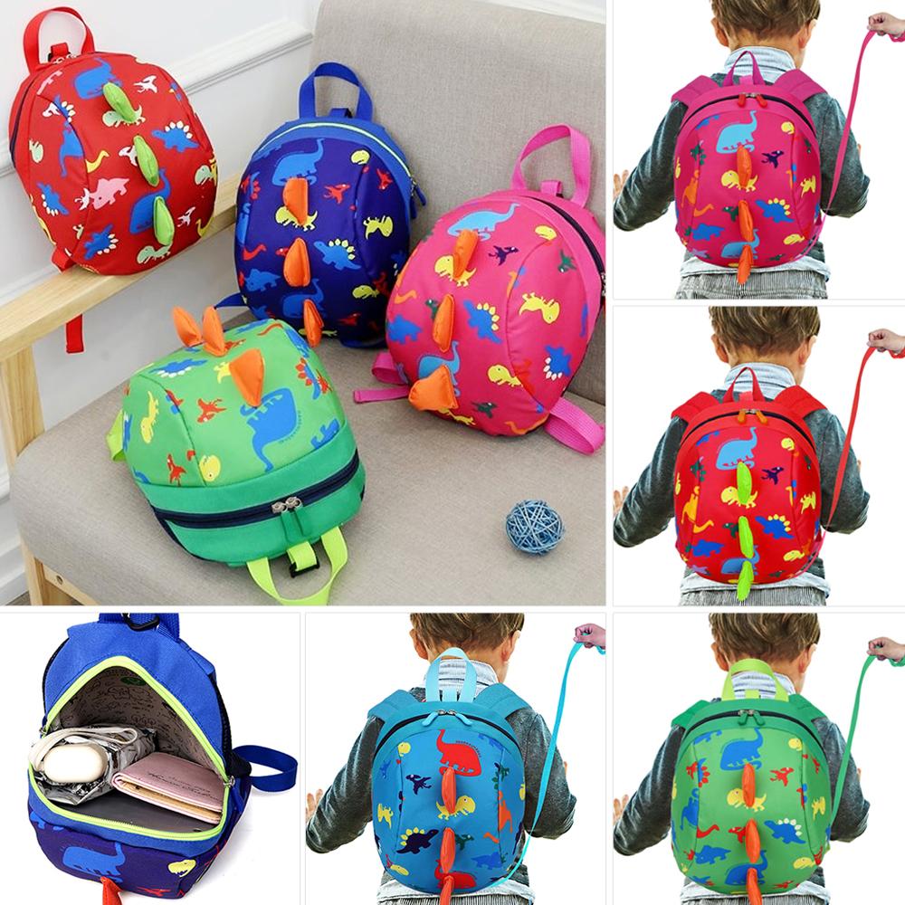 Cute Toddler Kids Baby Mini Backpack Cartoon Pretty Dinosaur School Bag Rein