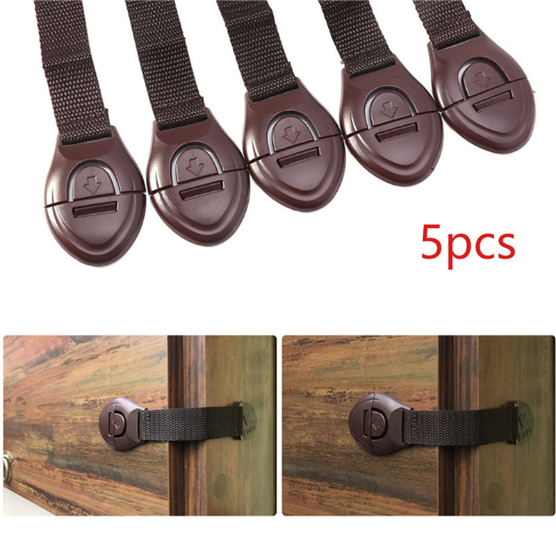 5 Toddler Baby Kid Child Safety Lock Proof Cabinet Drawer Fridge Cupboard Door