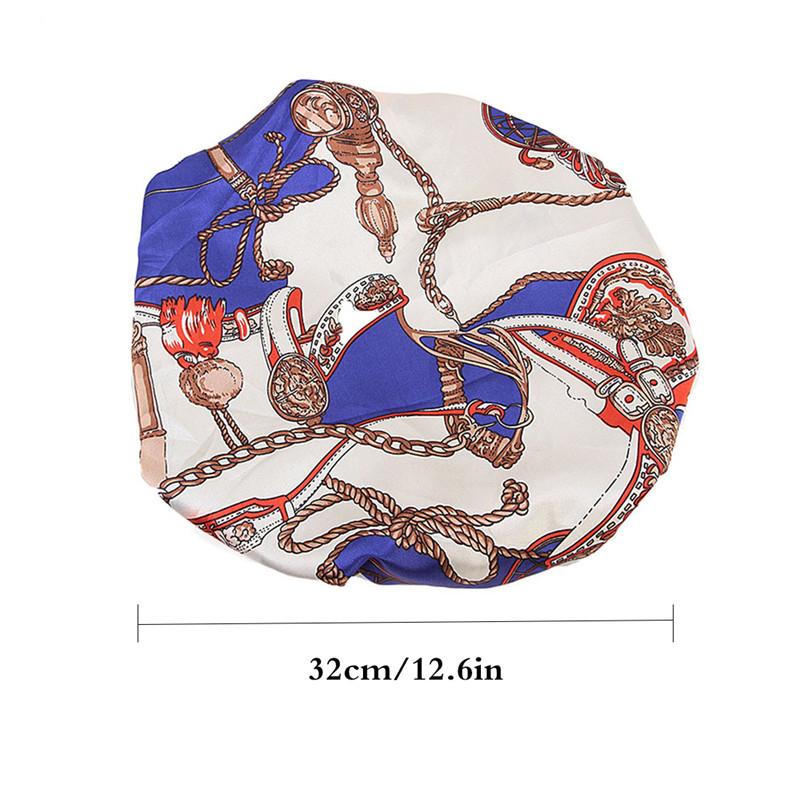 Details about Women Chemotherapy Hat Plus Size Satin Double Deck Floral  Pattern Band Sleep Cap