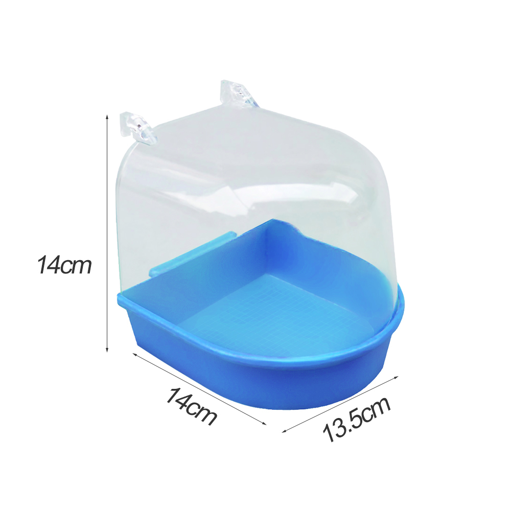 Hot Bird Water Bath Tub For Pet Bird Cage Hanging Bowl