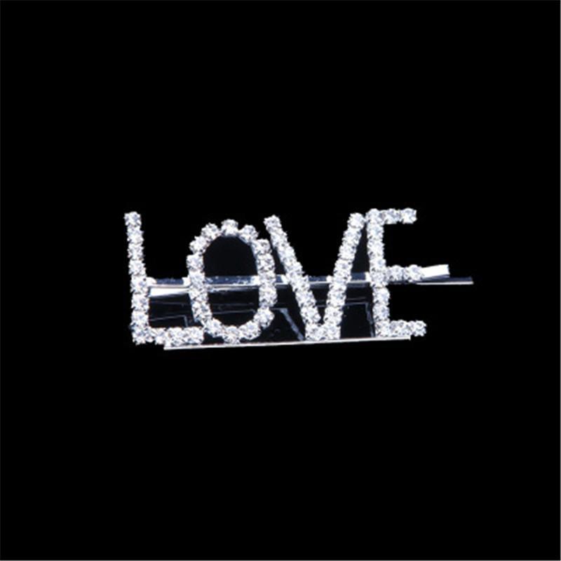 Diamond Slogan Parole Lettere Per Capelli Clip Slide Barrette Accessorio Per Capelli Uk Venditore