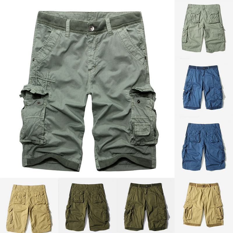 2f6a63558c Details about US Mens Cargo Shorts Pants Casual Combat Summer Multi Pockets  Trousers Bottoms