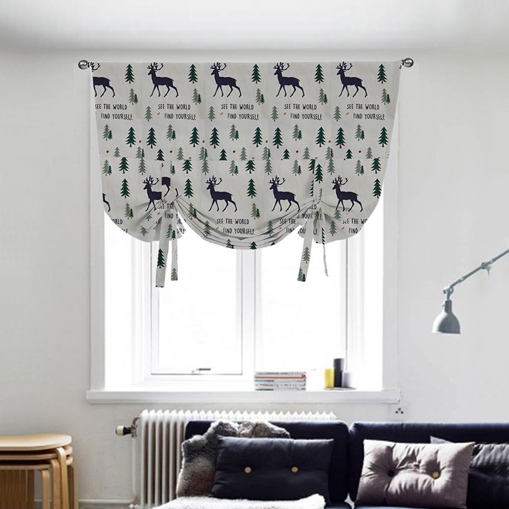 Floral Gardinen Und Pelmet Am: Ready Made Floral Printed Kitchen Tie Up Curtains Window