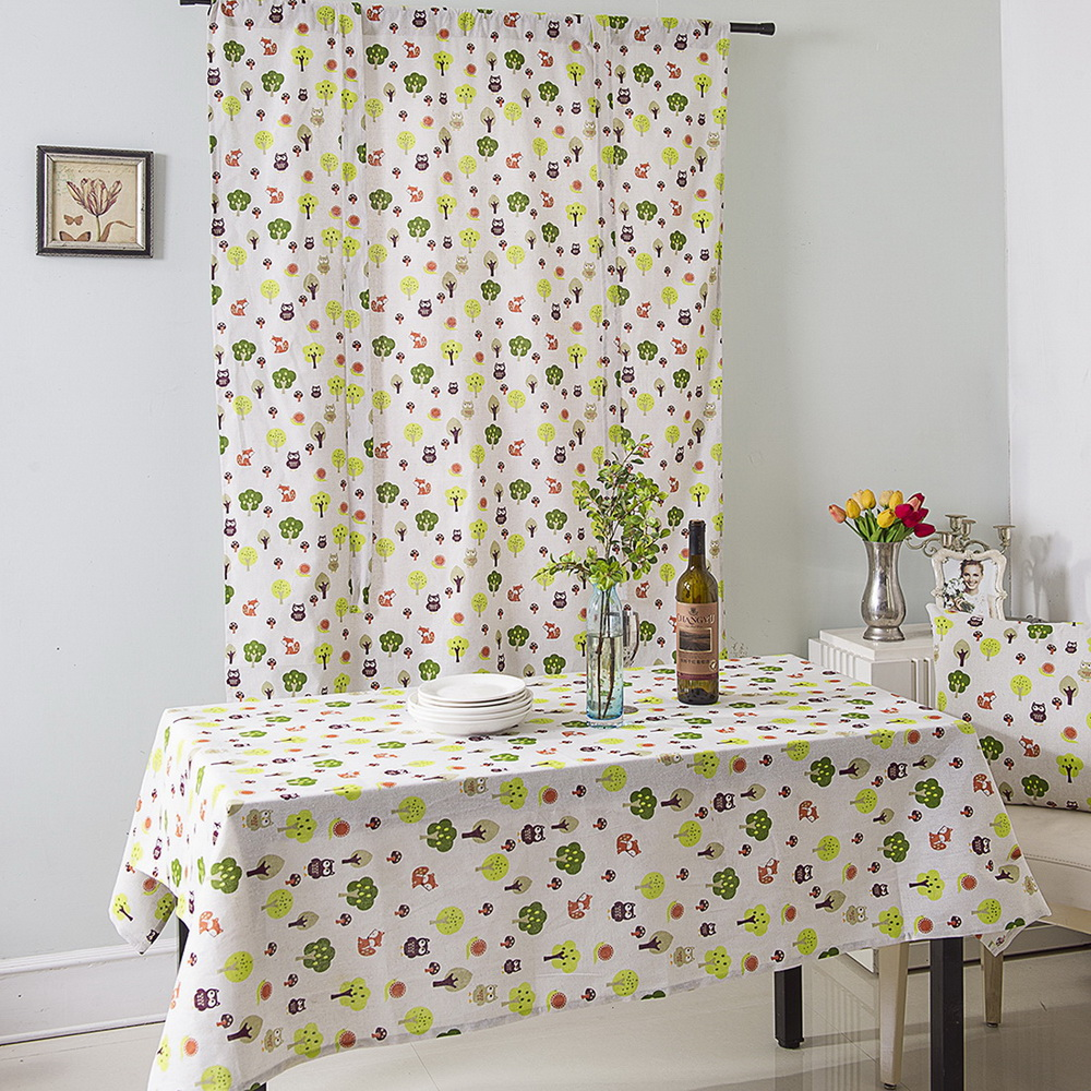 Kitchen Curtain Pelmets: Ready Made Floral Printed Kitchen Tie Up Curtains Window
