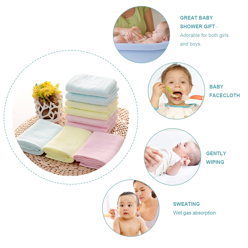 Baby Kids Towel Soft Square Bath Wash Cloth Child Wipes Face Safety Bathroom