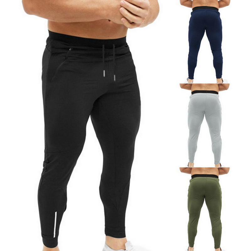 Sport Mens Pants Classic Strech Running Long Trousers Cotton Sweatpants GB09