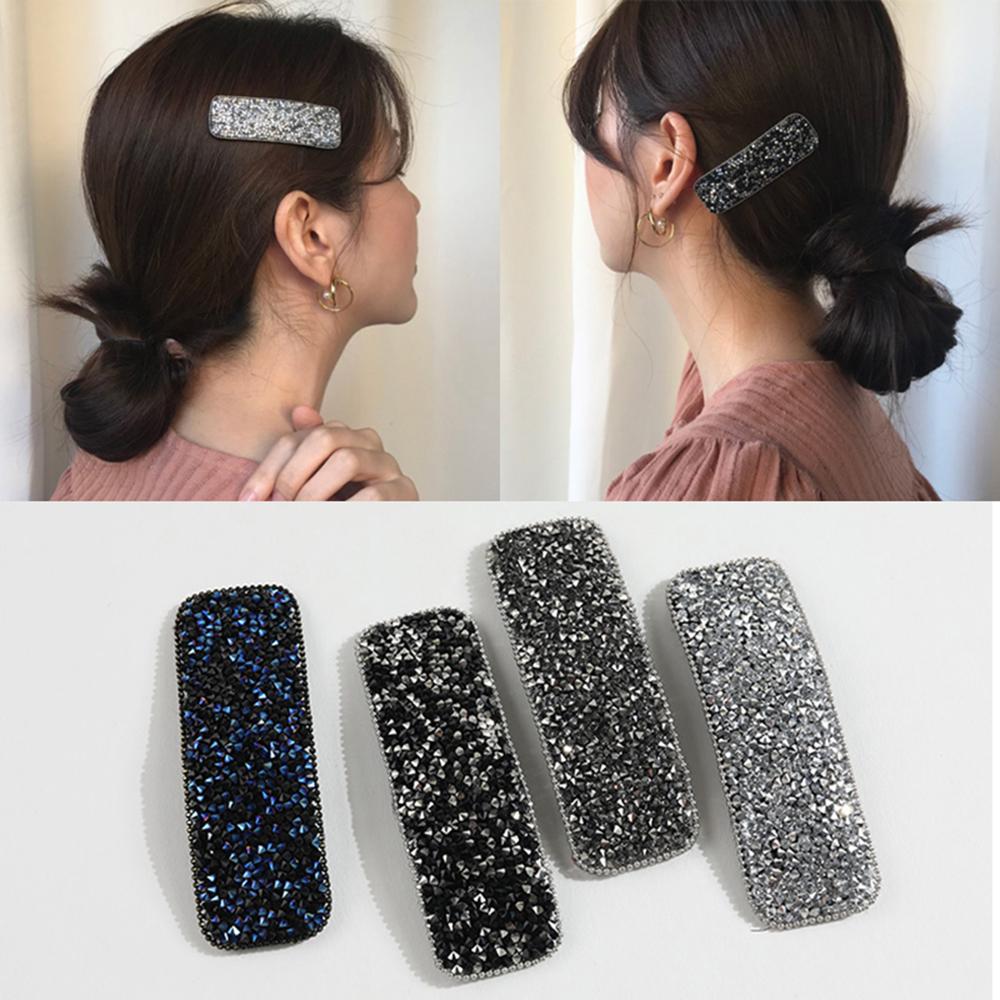 Fashion Girl femmes cristal strass Fleur Barrette Cheveux Pince Clip épingle à cheveux