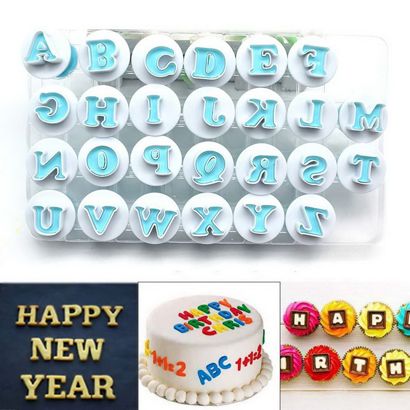 Decorating Fondant Icing Alphabet Mould Cake Number Letter Cutter Mold Set UK