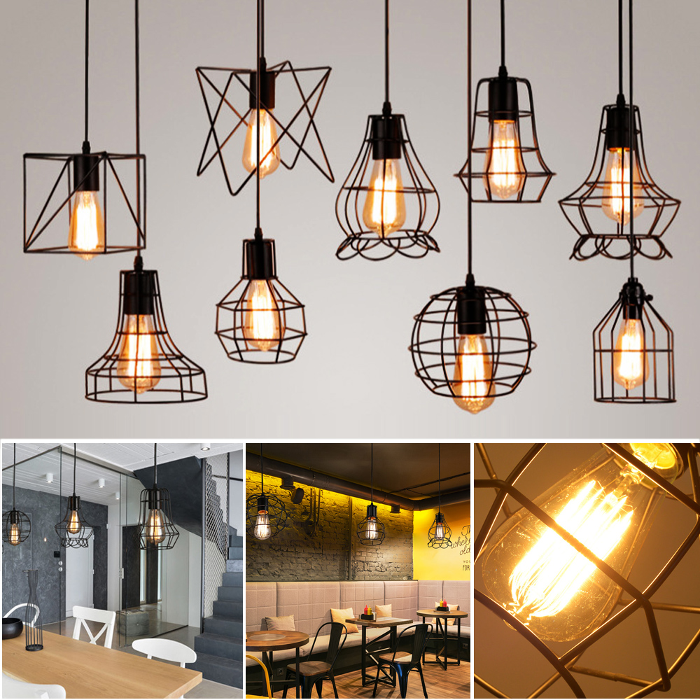 Details about modern minimalist ceiling lights pendant lamp retro indoor metal hanging lamps