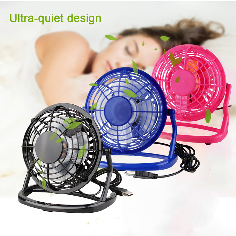 YIWU USB Desk Cooling Fan for Home Office Computer Mini Fan Air Cooler Hand Conditioning Color : Black