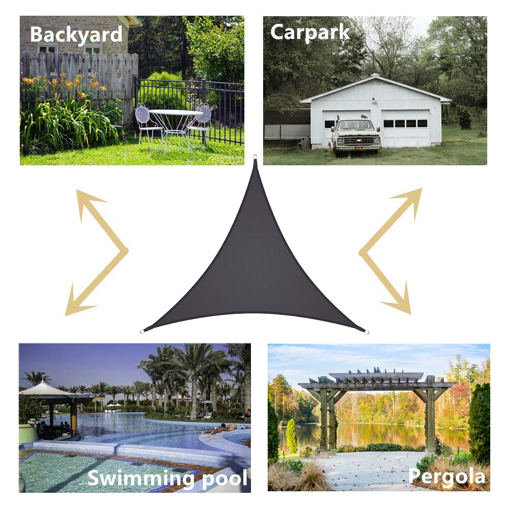 Voile Ombrage Pergola Bois details about waterproof sail shade sun garden house anti uv sunscreen  triangle- show original title