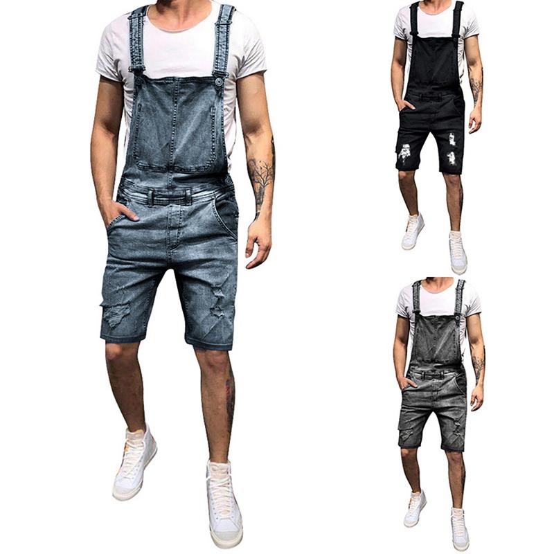 better sale online cheap prices Men's Denim Loose Overalls Jumpsuits Dungarees Pants Slim Skinny ...