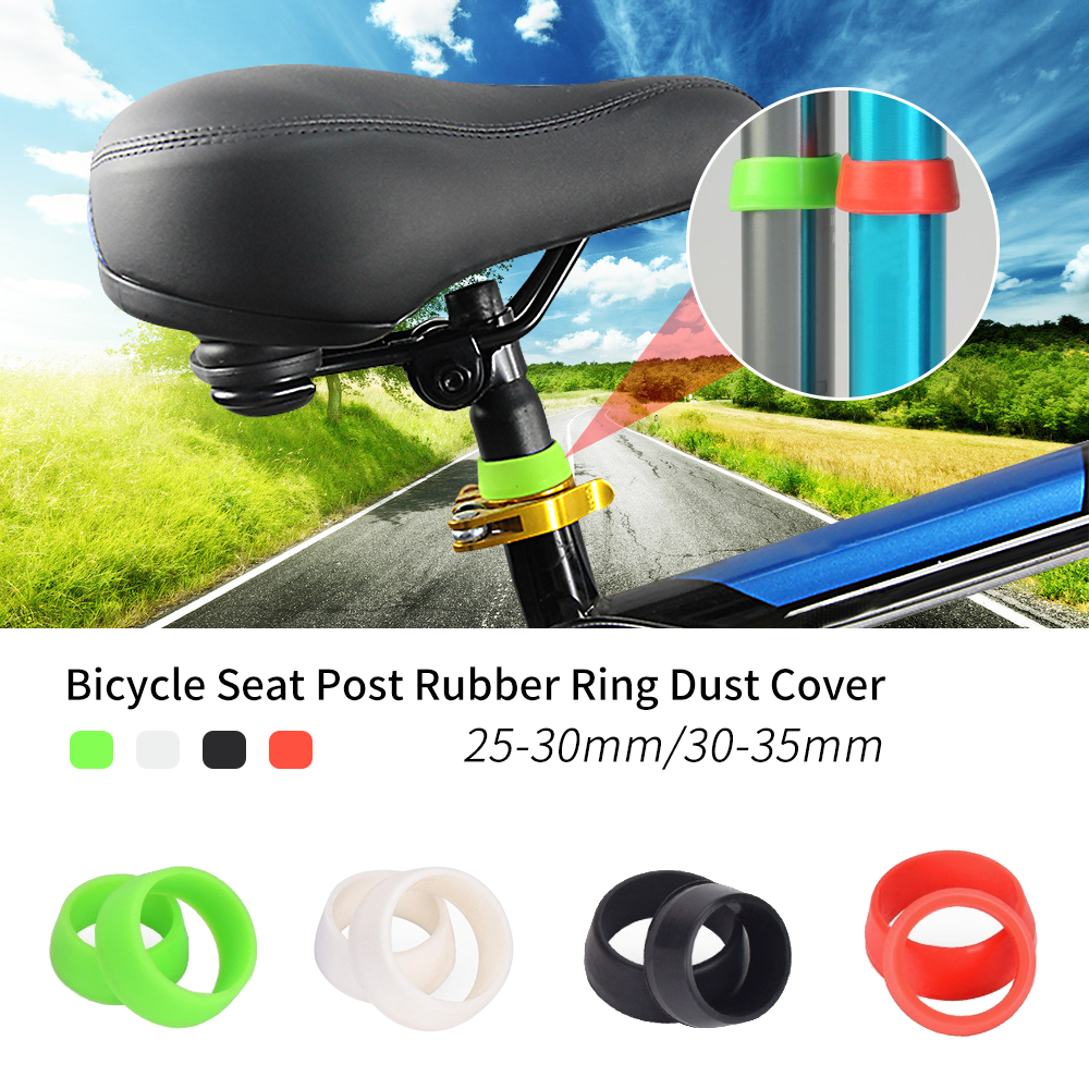 Bicycle Pipe Protector  Rubber Ring Cover Mountain Road Bike Seat Post Case