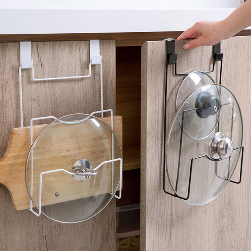 Cabinet Door Lid Organizer Rack Pot Pan
