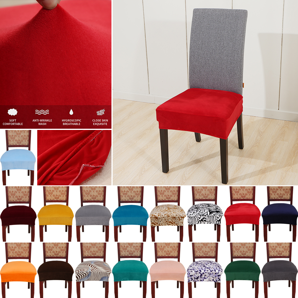 Arched 4Pcs Stretch Chair Covers Seat Slip Cover Dining Wedding Party Flat