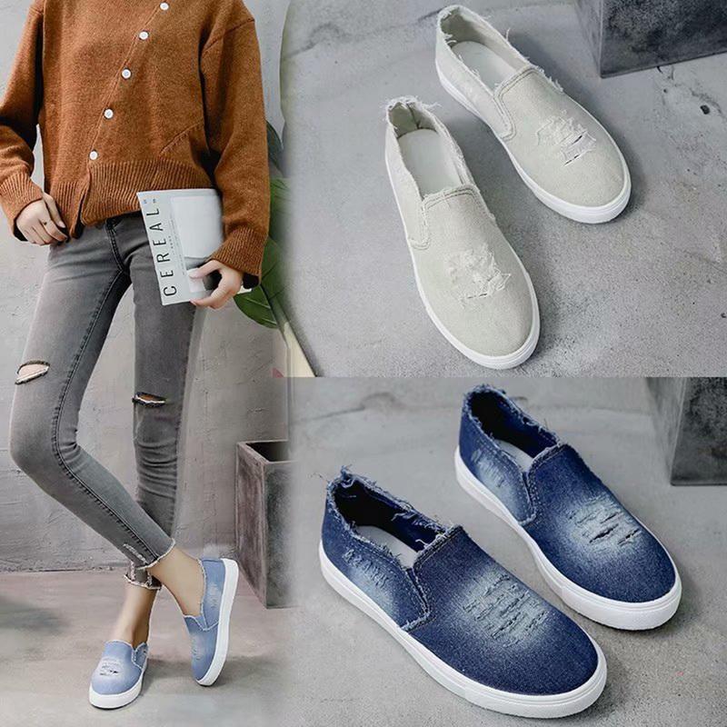 Détails sur Chaussures Talon Plate Femme Mode En Toile Lacets Platform Sneakers Casual 25