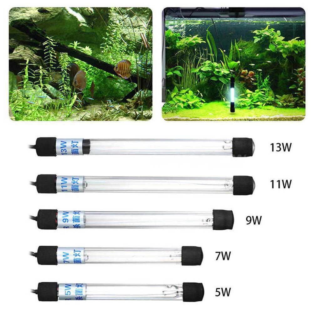 Waterproof Aquarium Fish Tank Submersible Light UV Sterilizer Lamp For Water ASA