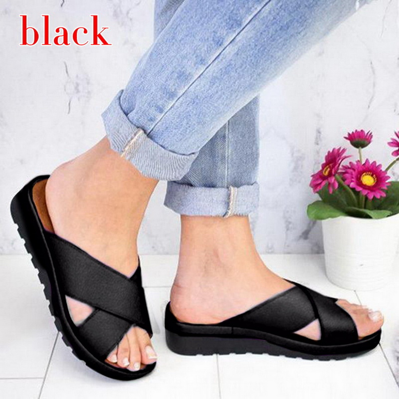 Women Soft Flip Flops Casual Home Open Toe Slippers Flat Sandals Beach Shoes h8