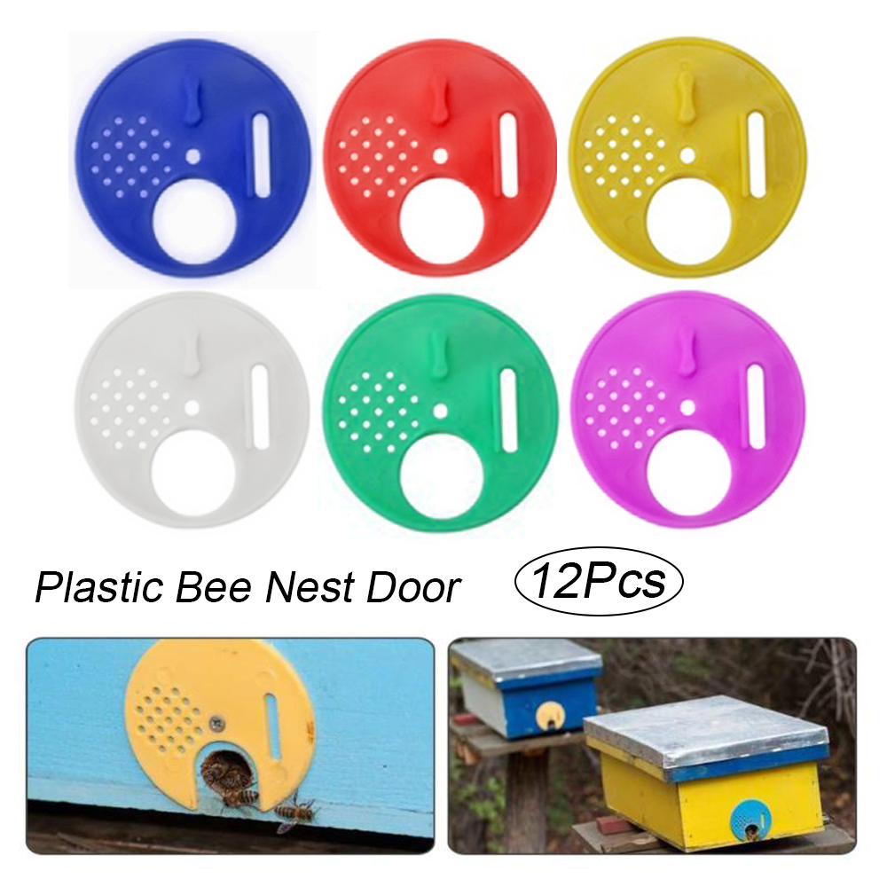 Metal Silver Bee Hive Nest Box Door Entrance Disc Gate Tool Equipment Supplies